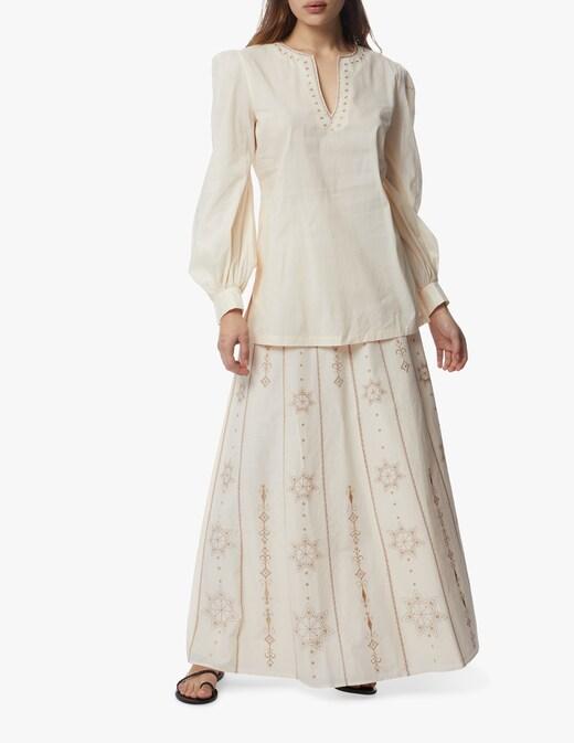 rinascente Le Sirenuse Positano Camille maxi cotton skirt