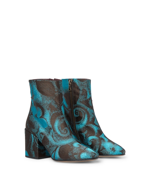 rinascente Dries Van Noten Leather ankle boots