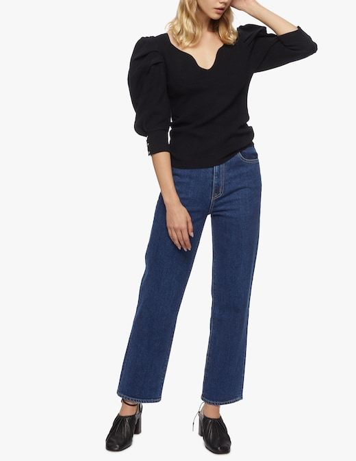 rinascente Slvrlake Jeans vita alta cropped regular fit london