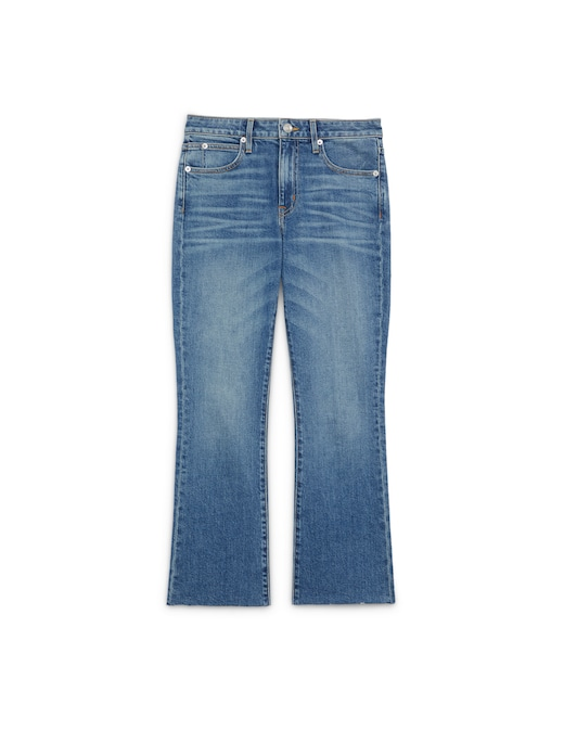 rinascente Slvrlake Sara mid rise cropped mini flare jeans