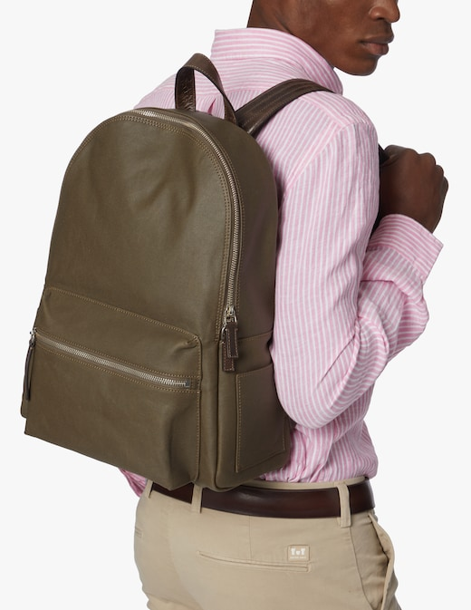 rinascente Orciani Leisure fabric and leather backpack