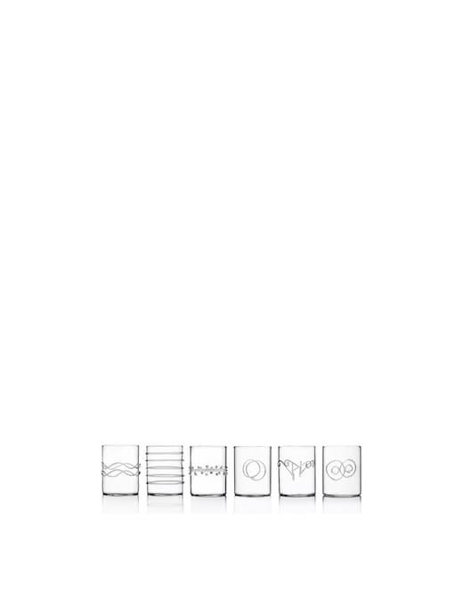 rinascente Ichendorf Deco Set Of 6 Water Glass Assorted