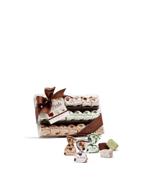 rinascente La Perla Di Torino Assorted chocolate truffles pistachio dark stracciatella