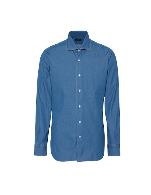 rinascente Barba Napoli Culto Denim Slim Shirt