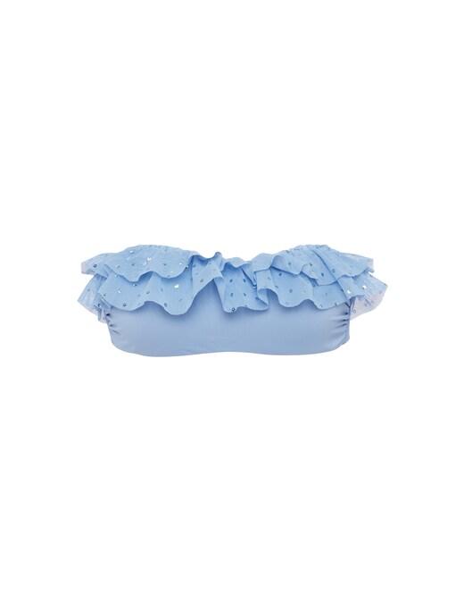 rinascente Fisico Ruffles banded bikini top