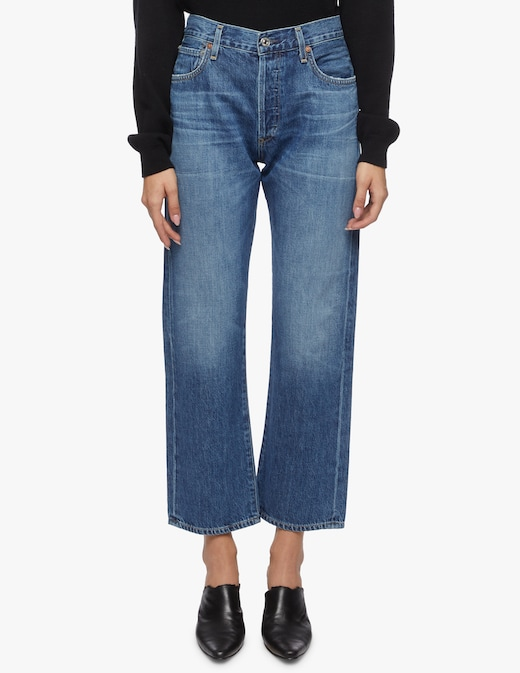 rinascente Citizens of Humanity Jeans relaxed a vita alta croppato Emery