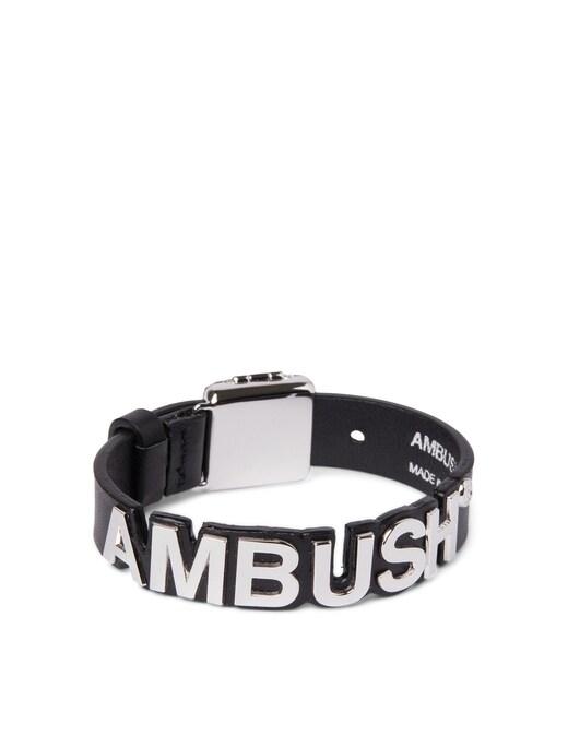 rinascente Ambush Bracciale in pelle con logo lettering