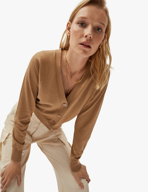 rinascente Artknit Studios The Silk Cotton crop cardigan