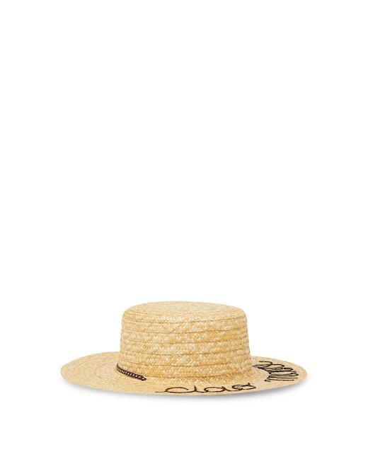 rinascente Leontine Vintage Cappello in paglia con scritta in paillettes Ciao Mare