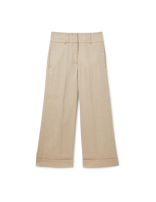 rinascente Peserico Cropped trousers lined with fleece wool