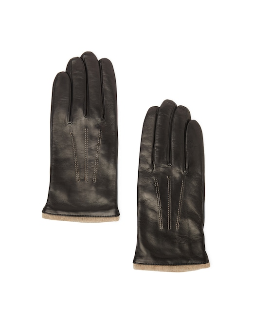 rinascente Guanti Made In Italy Leather gloves with contrast stitching