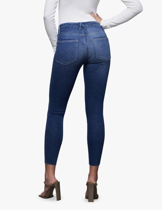 rinascente Good American Jeans Good Legs Crop Fray Hem