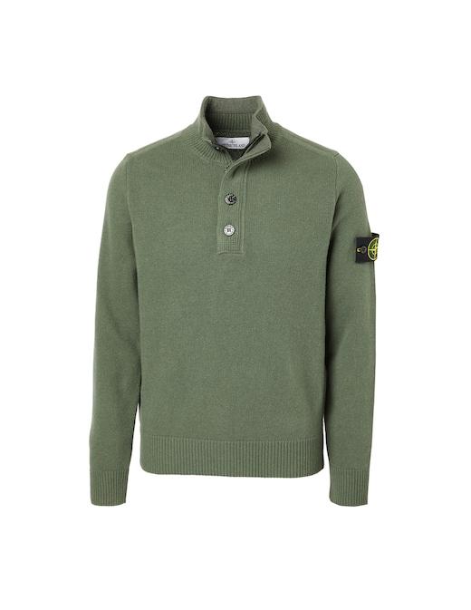 rinascente Stone Island Wool long sleeve polo shirt