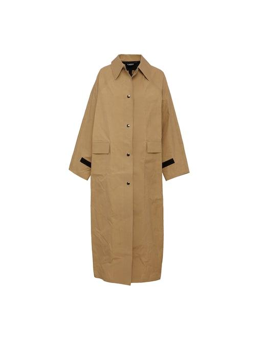 rinascente Kassl Raglan wax coated long trench coat