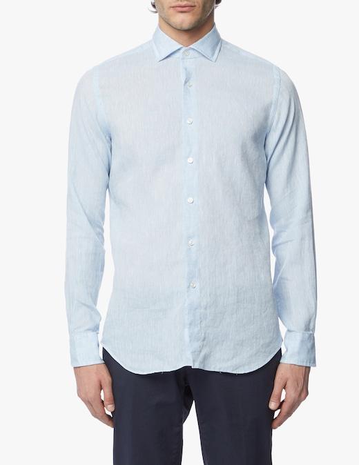 rinascente Xacus Tinto filo albini linen shirt