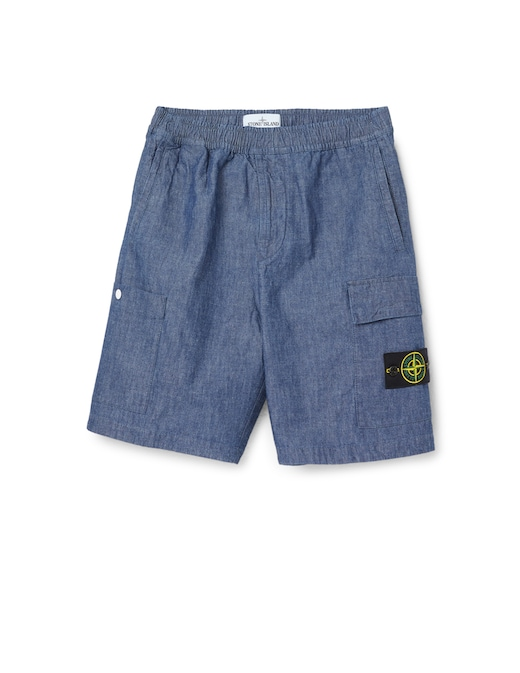 rinascente Stone Island Pantaloni corti chambray