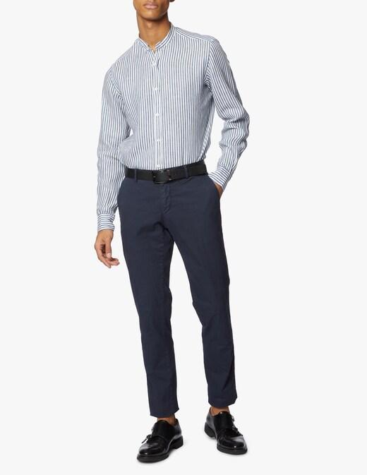 rinascente Giannetto Portofino Guru striped linen shirt