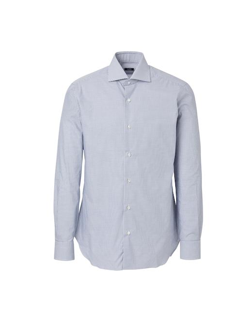 rinascente Barba Napoli Semi-slim fit check shirt