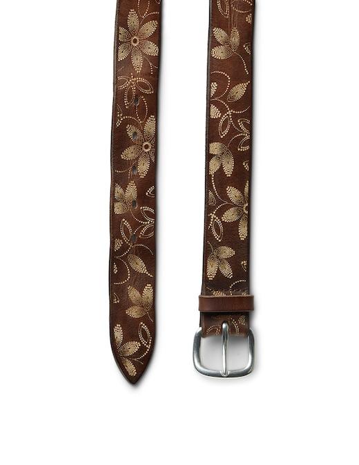 rinascente Orciani Cintura con foglie incise