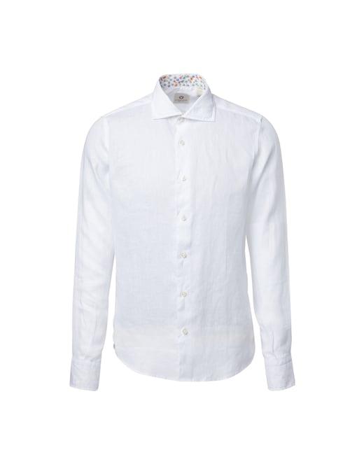 rinascente Altemflower Contrast floral linen shirt