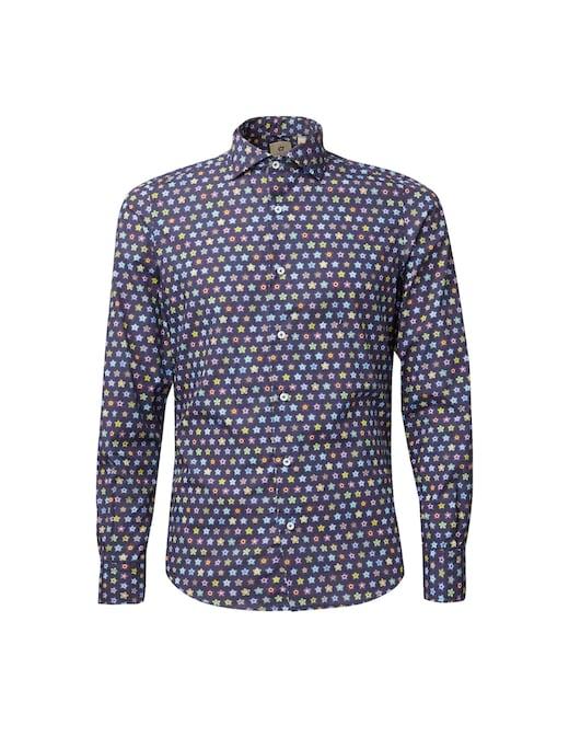 rinascente Altemflower Geometric floral printed shirt