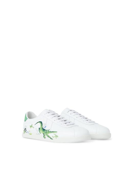 rinascente Lanvin Glen leather sneakers