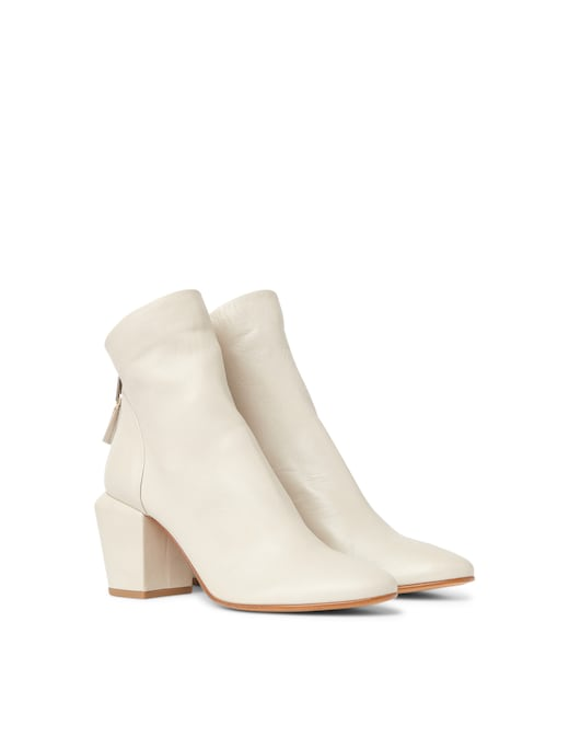 rinascente Strategia by Elena Iachi Leather ankle boots with zip