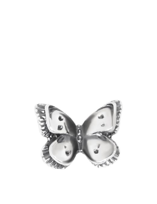 rinascente Maman et Sophie Orecchino singolo con farfalla piccola in argento brunito