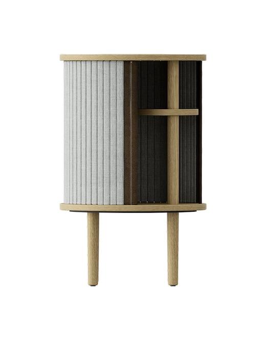rinascente Umage Audacious Side table,  Wooden base Oak , Tambour doors