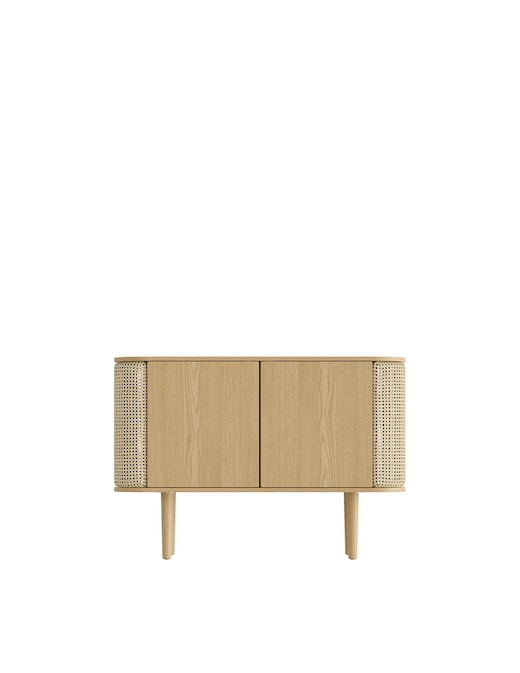 rinascente Umage Treasures 2 door Cabinet, Wooden base Oak, Venetian Cane