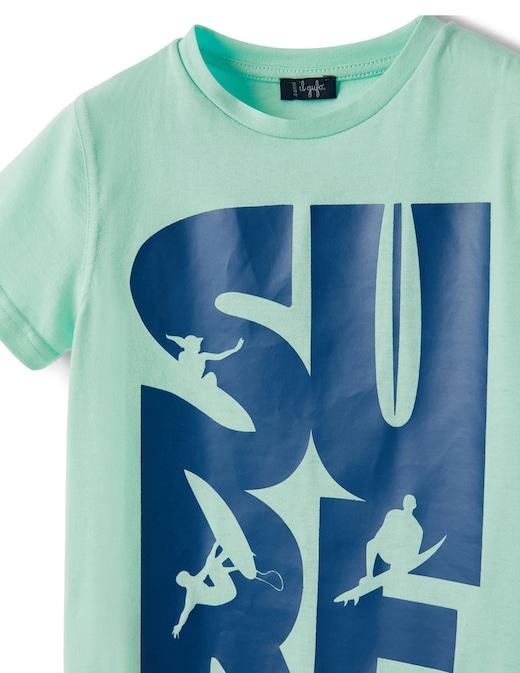 rinascente Il Gufo T-shirt manica corta in jersey di cotone con stampa surf