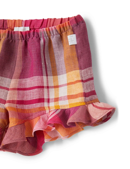 rinascente Il Gufo Shorts in madras di lino