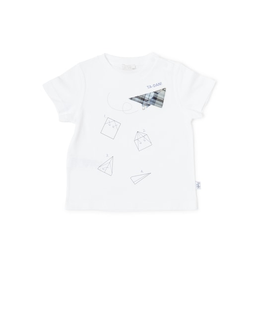 rinascente Il Gufo T-shirt manica corta stampa istruzioni aeroplanino