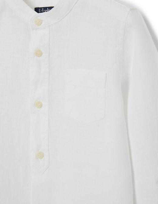 rinascente Il Gufo Camicia in lino con collo alla coreana