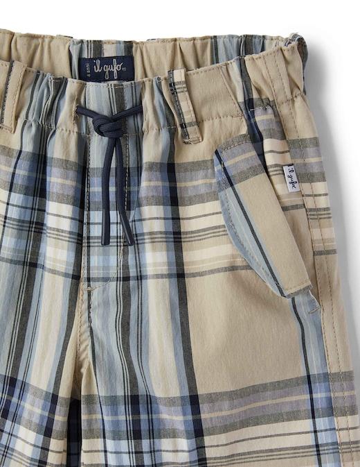 rinascente Il Gufo Bermuda in madras di cotone con coulisse in vita