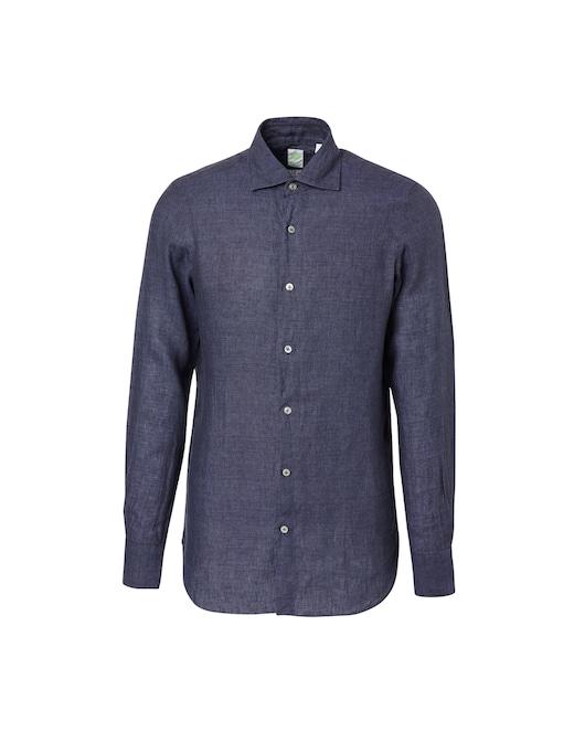 rinascente Finamore Linen delave tokyo shirt