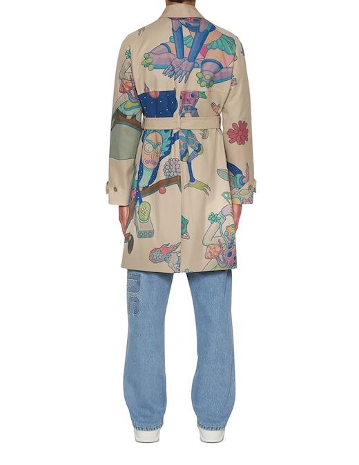 rinascente GCDS Rick&morty printed raincoat