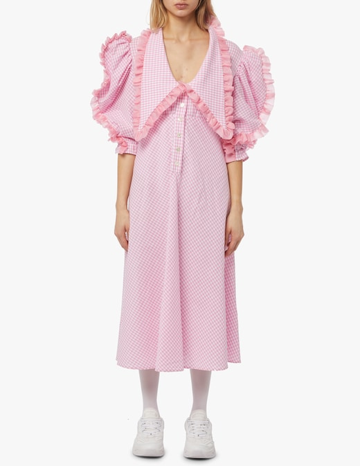 rinascente Greta Boldini Cotton vichy midi dress