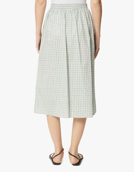 rinascente Rosso35 Printed cotton midi skirt