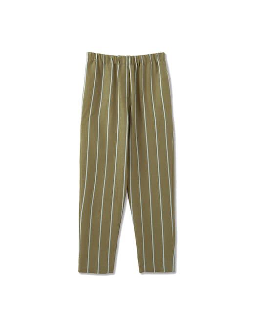 rinascente Rosso35 Pantaloni a vita elastica in misto cotone a righe