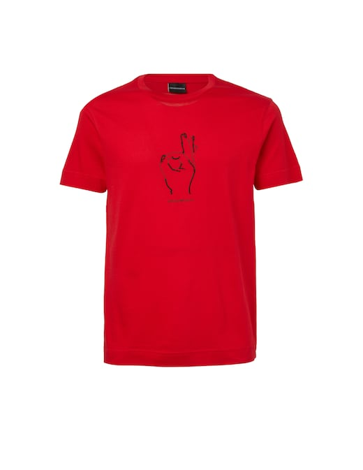 rinascente Emporio Armani Hand printed t-shirt