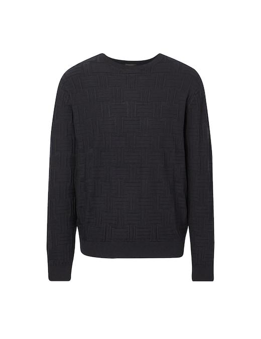 rinascente Emporio Armani Logo crew neck sweater