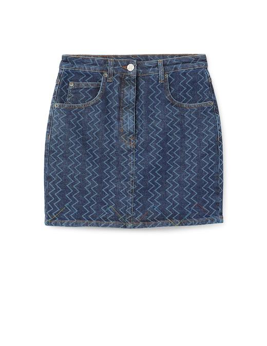 rinascente M Missoni Mini jeans skirt with logo