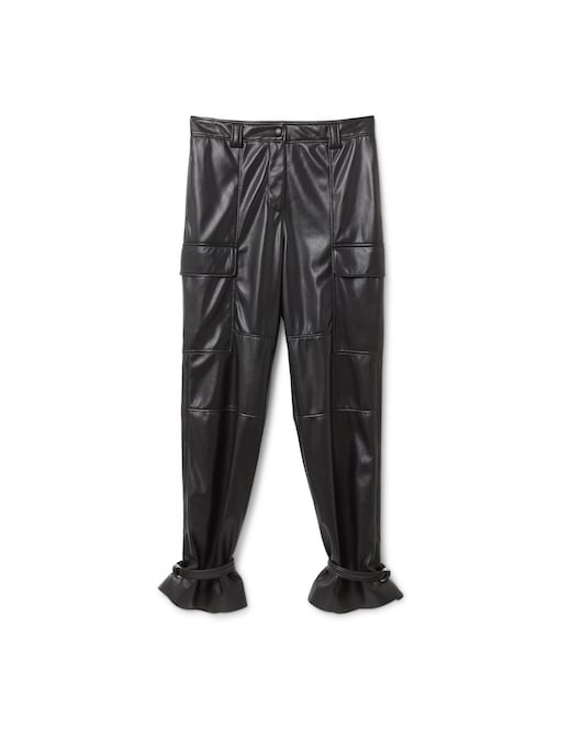 rinascente MSGM Faux leather cargo pants