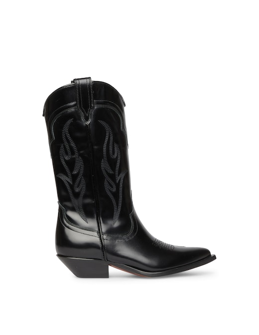 rinascente Sonora Brushed calf leather cowboy boots Santa Fe