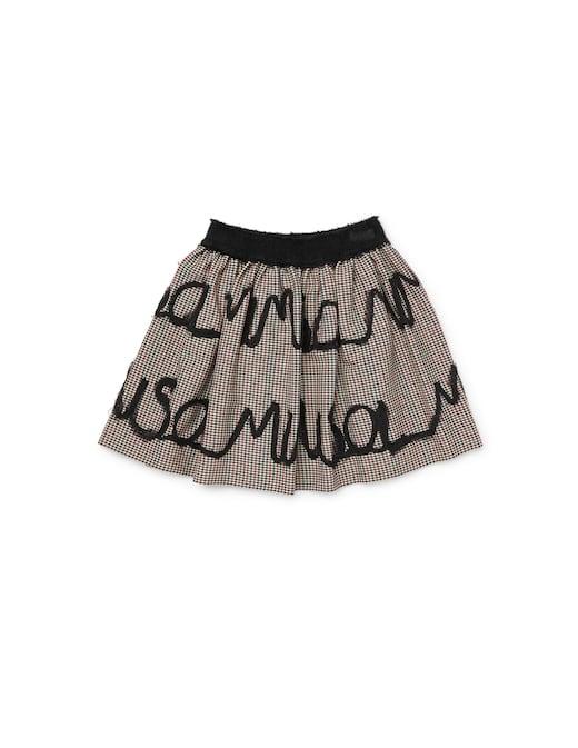 rinascente Mimisol Logo microtartan skirt