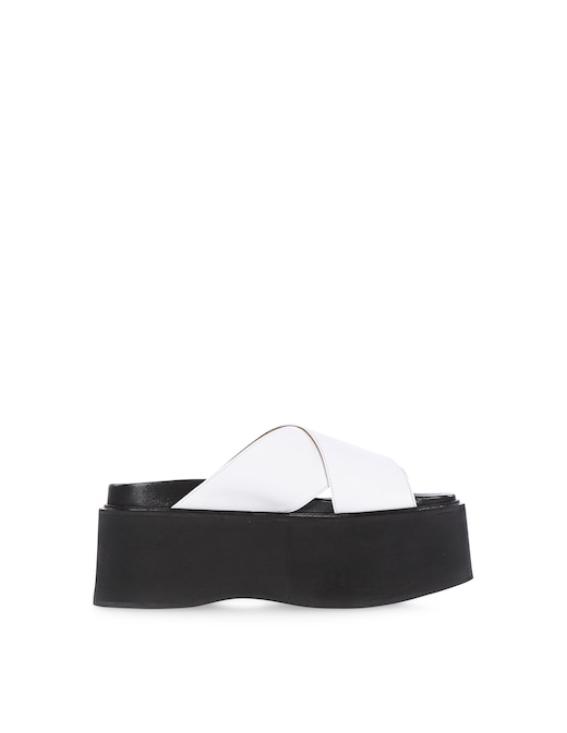 rinascente Marni Calfskin wedge Criss-Cross sandals