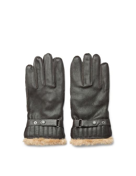 rinascente Barbour Leather utlity glove