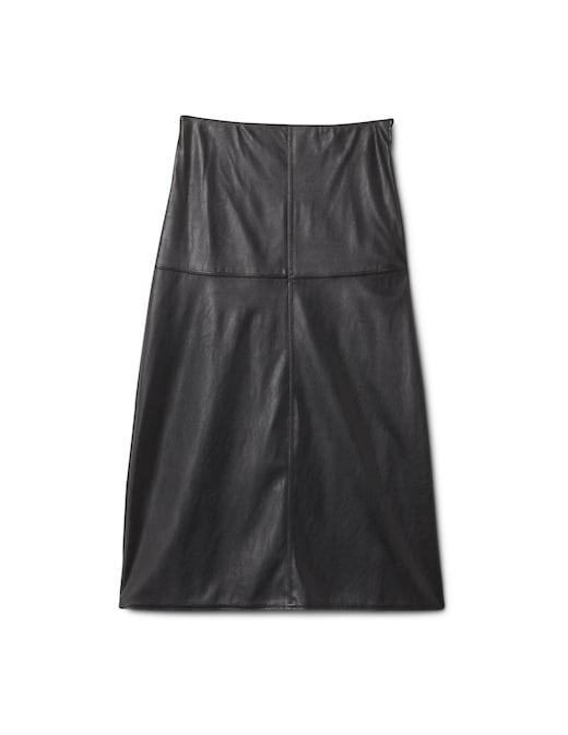 rinascente Max Mara Leisure Carioca faux leather midi skirt