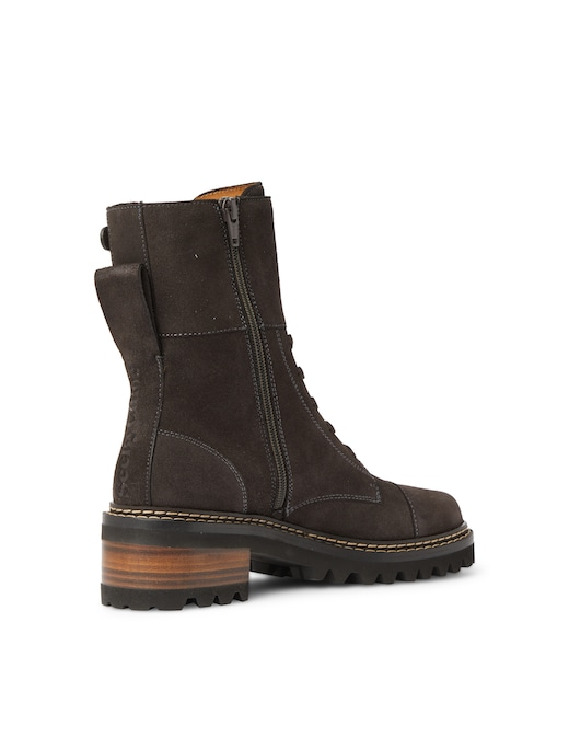 rinascente See By Chloé Leather combat boots